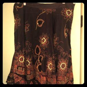 Dresses & Skirts - Brown, orange, gold full skirt